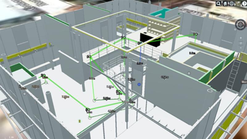竹中工務店・カナモト・アクティオ、BIMを用いたドローンの「屋内外自律飛行システム」の実証実験を実施