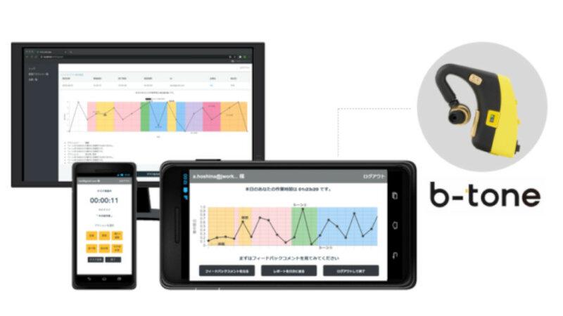 凸版印刷、心理状態を可視化するイヤホン型脳波デバイス「b-tone」を販売開始