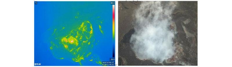 パーソルP&Tとイームズロボティクス、ドローンを活用した火口周辺調査を草津白根山や阿蘇山などで実施