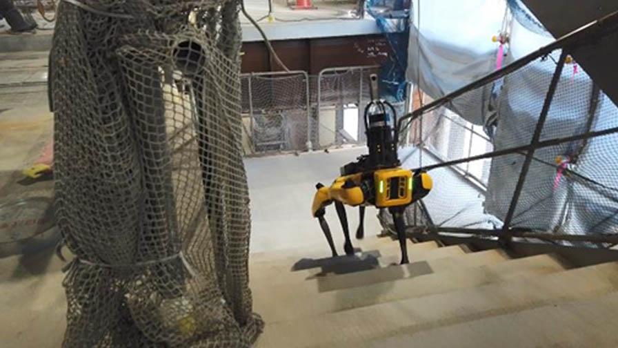 竹中工務店と竹中土木、四足歩行ロボット「Spot」に自動巡回と遠隔操作による建設業務支援機能を実装